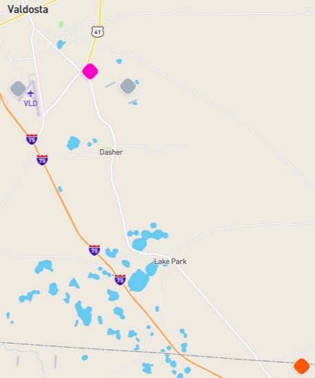 Stations, Alapaha Basin