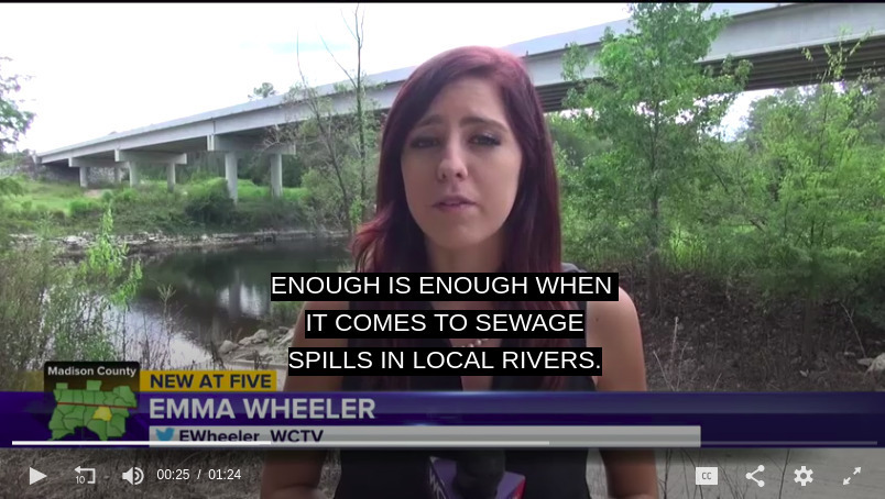 804x454 Enough is enough when it comes to sewage spills in local rivers, Hagan Bridge, in WCTV at Hagan Bridge on Florida taskforce about Withlacoochee sewage spills, by WCTV, for WWALS.net, 2 October 2018