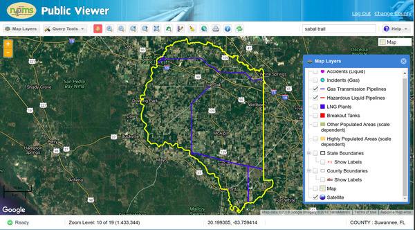 PHMSA Suwannee County, Florida, Maps