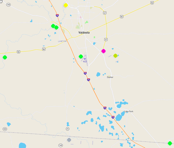 Stations, Map