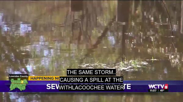 Valdosta Withlacoochee Wastewater Treatment Plant (WWTP), Spills