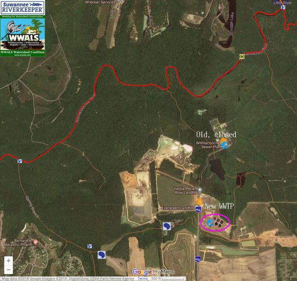 WWTP creeks, Map