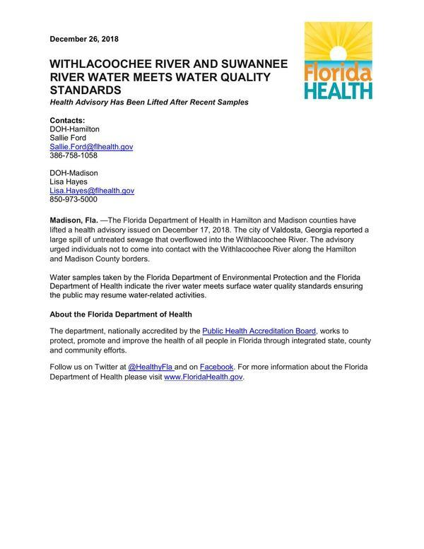 WastewaterAdvisory Lifted Hamilton Madison County 12-26-18-0001,