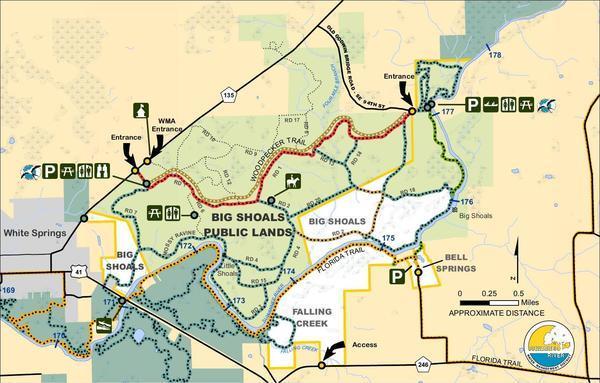 Big Shoals, Map