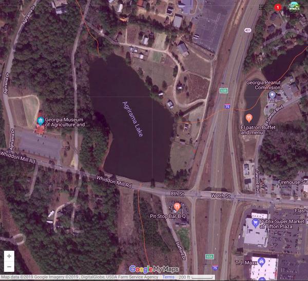 Map: Agrirama Lake, Spills
