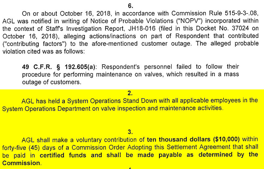 880x565 Alleged Violation and Voluntary Contribution, Settlement Agreement, in Four months later, GA-PSC still investigating AGL pipeline Homervile explosion, by John S. Quarterman, for WWALS.net, 11 December 2018