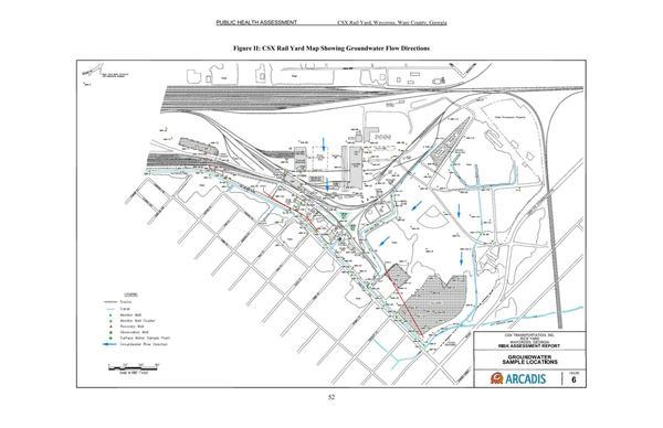 Figure II: CSX Rail Yard Map Showing Groundwater Flow Directions, Pages