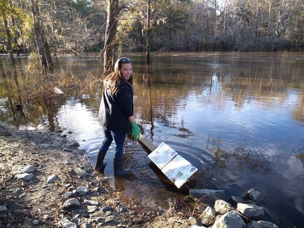We have the sign and post. With Sara Jay., The river taketh, the river giveth...
