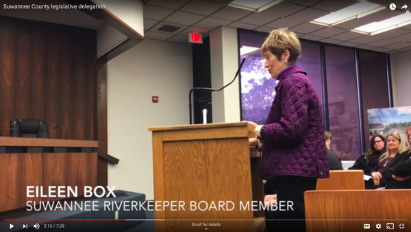 Eileen Box, WWALS Board Member, Suwannee Democrat