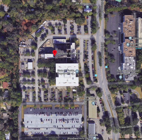 2600 Blair Stone Road, Tallahassee, FL, Map