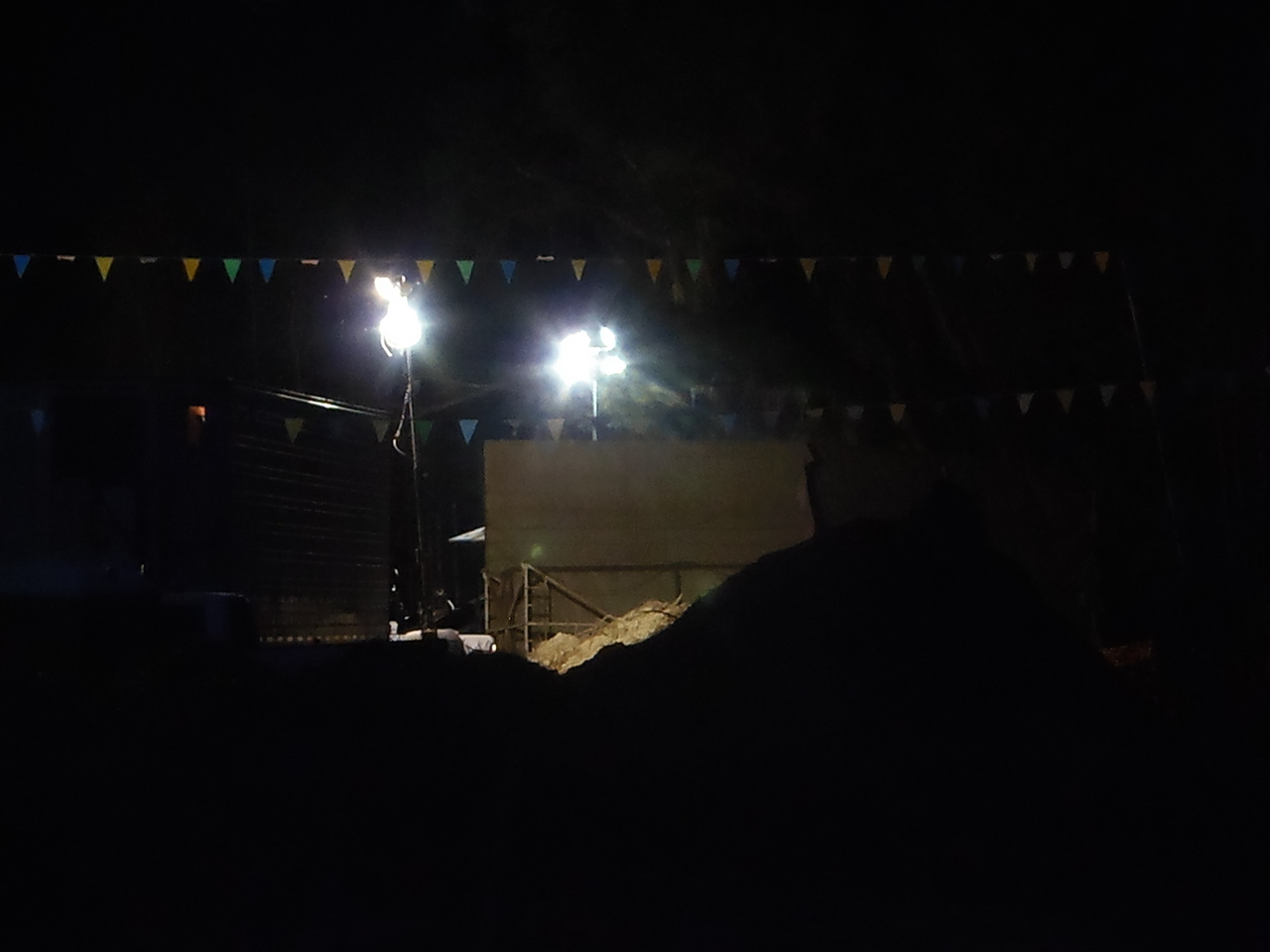 Photo: Gretchen Quarterman, Sabal Trail pipeline drilling at night 2016-12-02